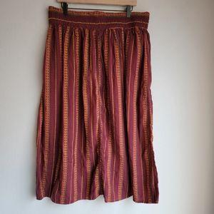 Ace & Jig Rara Skirt in Garnet size 2X NWT